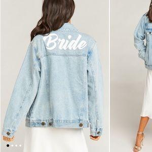 Show Me Your Mumu Bride Denim Jacket